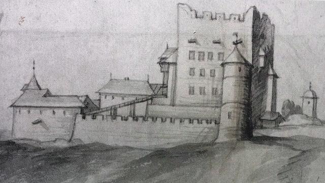 Zeichnung der Burg