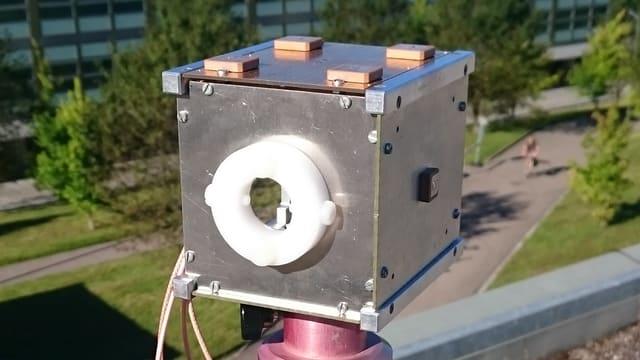 Nano-Satellit aus der Schweiz: Ein Modell des ETH «1-Unit-Cube».