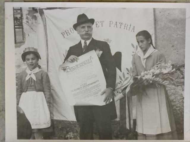 Historische Aufnahme von Ernest Gugielminetti.