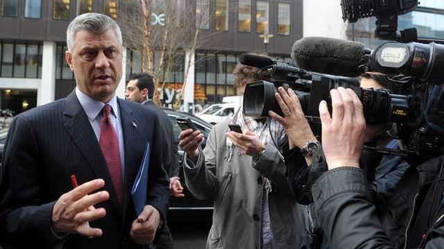Kosovo-Regierungschef Hashim Thaci trifft in Brüssel ein.