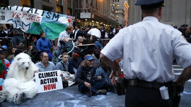 Klima-Protest an der Wall Street.