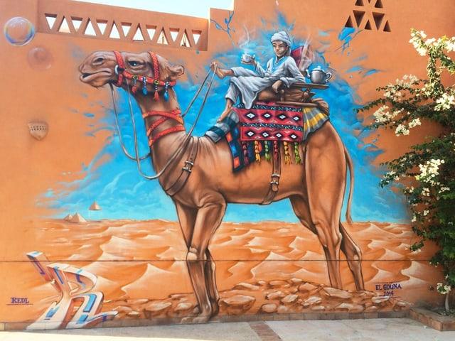 Purtret din buob che sesa sin il dies d'in camel.
