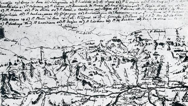 Carta geografica malegiada da P. Placi a Spescha