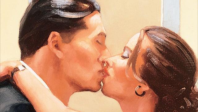 Man sieht ein Paar, das sich küsst. Ein Ausschnit aus dem Buch-Cover.