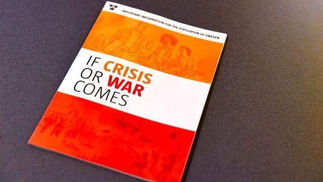 Broschüre mit dem Titel «If crisis or war comes»
