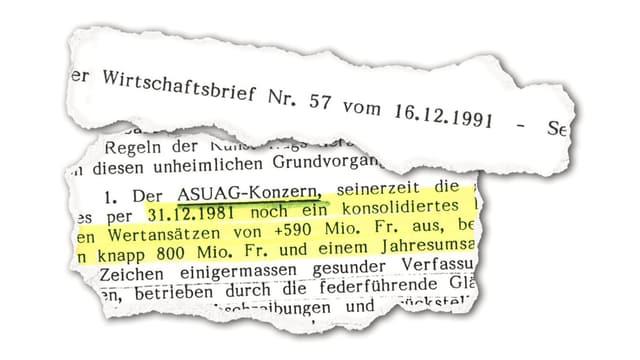 «Bieler Wirtschaftsbrief» von 1991