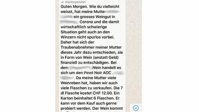 Eine Whatsappnachricht.