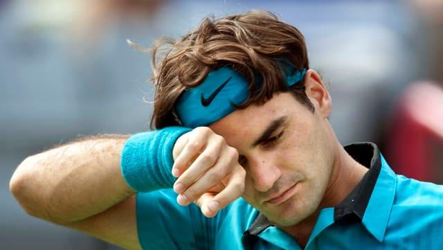 Roger Federer durant ina partida a Montreal l'onn 2009.