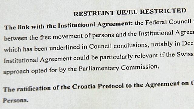 Ausschnitt aus dem internen EU-Papier