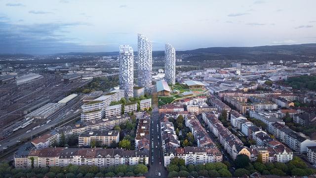 Visualisierung des neuen Quartiers