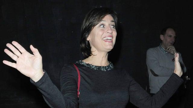 Die Journalistin Sandra Maischberger hat allen Grund zur Freude - auch ohne seichte Unterhaltungsshow schafft sie es aufs Podest