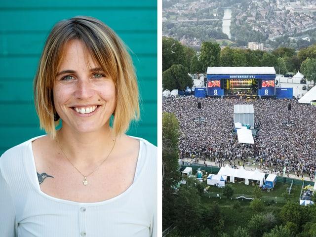 Lena Fischer vom Gurtenfestival