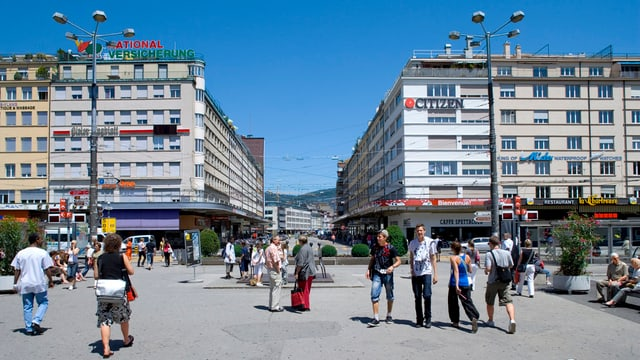 Bahnhofsplatz Biel
