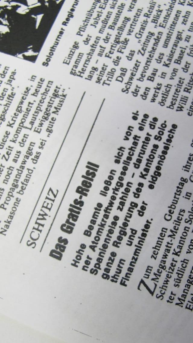 Zeitungsausschnitt aus dem Magazin Der Spiegel