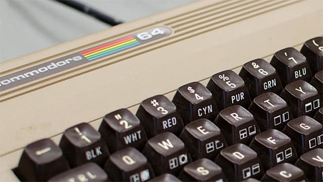 Bildausschnitt eines Commodore-64
