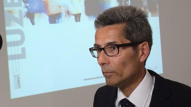 Der Luzerner Oberstaatsanwalt Daniel Burri präsentierte die neusten Zahlen zu den Fällen.