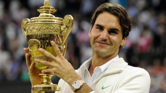 Roger Federer winkt bei der Titelverteidigung in Wimbledon ein Rekord-Preisgeld.