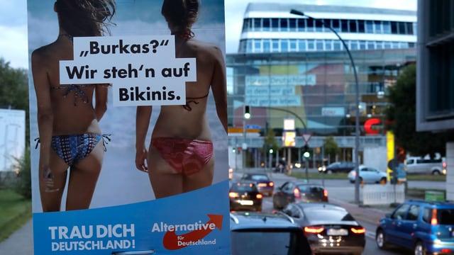 Placat da la dretga en Germania, da la AfD (Alternative für Deutschland),