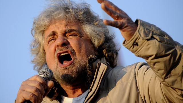 Starkomiker und Politiker Beppe Grillo