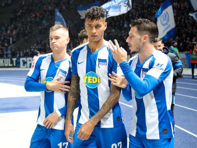 Hertha fährt den 3. Sieg in Serie ein.