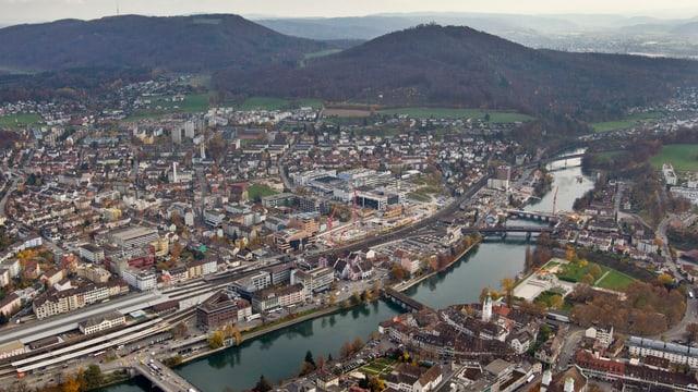 Luftaufnahme von Olten.