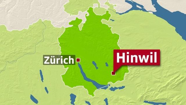 Karte Hinwil.