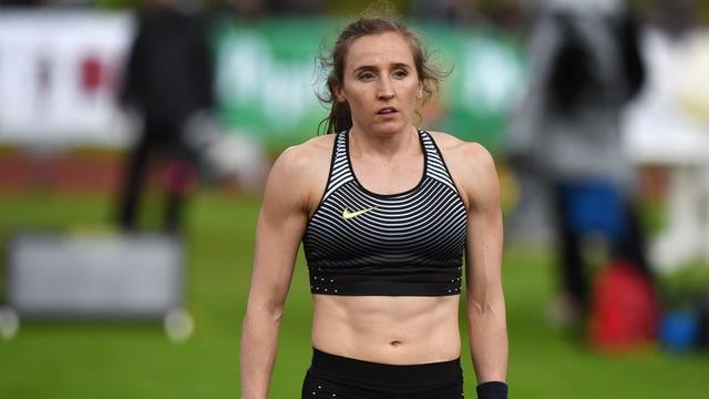 Nicole Büchler im Wettkampftenü.