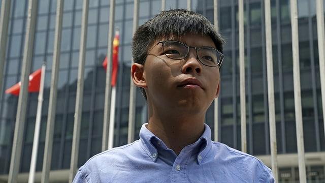 Joshua Wong in Nahaufnahme.