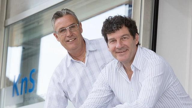 Walter Albin, il manader tecnic (san.) e Peter Caviezel, mainagestiun da la connecta sa.