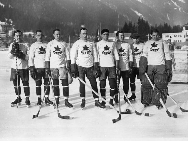 In den Anfangsjahren eine Klasse für sich: Das kanadische Nationalteam 1924.