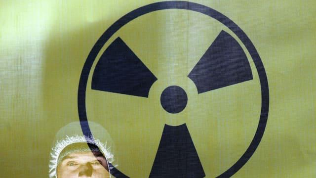 Ein Warnzeichen für Radioaktivität