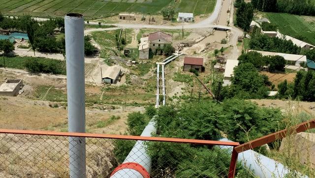 Blick auf eine Pipeline