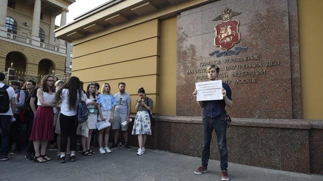 Protestierende in Moskau