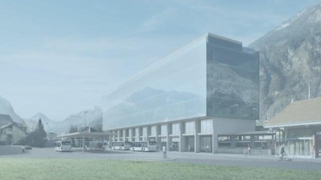 Visualisierung des geplanten Kantonsbahnhofs