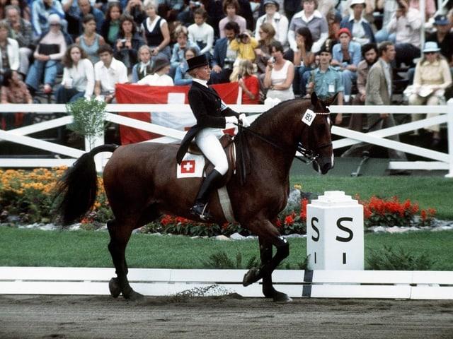 Christine Stückelberger bei Olympia 1976.