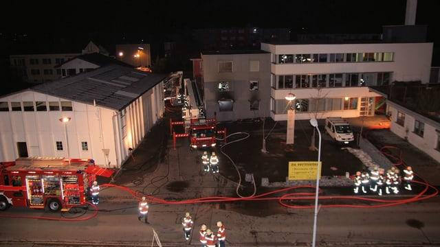 Feuerwehren im Einsatz in Widnau