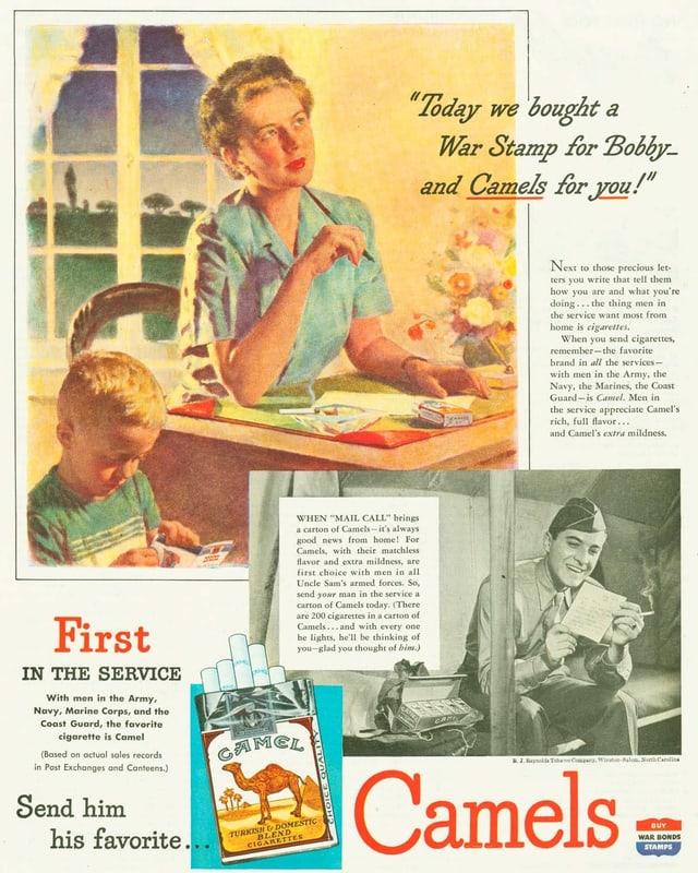 Tabakwerbung während dem Zweiten Weltkrieg