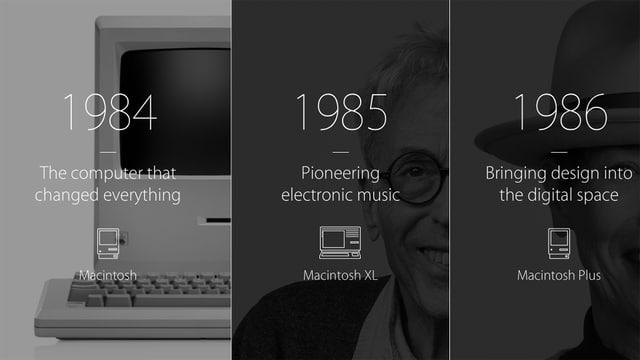 Screenshot der Apple Webseite