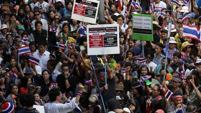 Protestierende in Bangkok