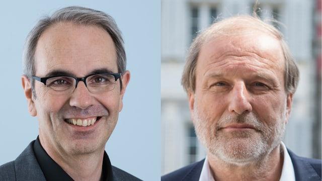 Die SP-Stadtpräsidenten Beat Züsli und Dolfi Müller.