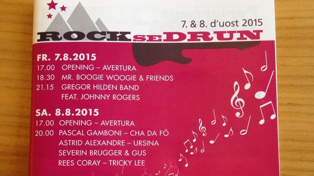 Il program da Rock se Drun.