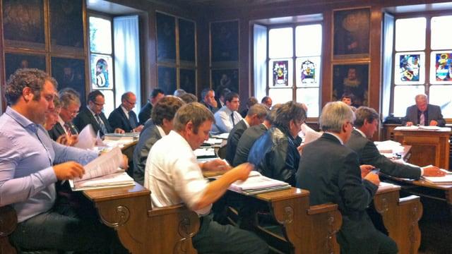 Der Landrat während einer Session.