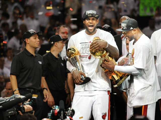 LeBron James gewann mit Miami 2012 und 2013 den Titel.