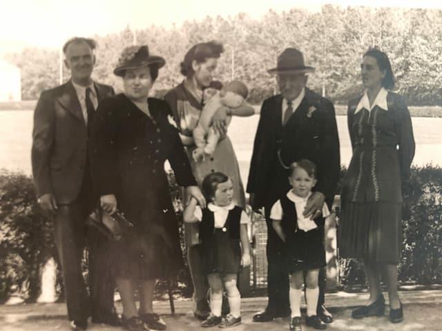Familienfoto aus 1949.