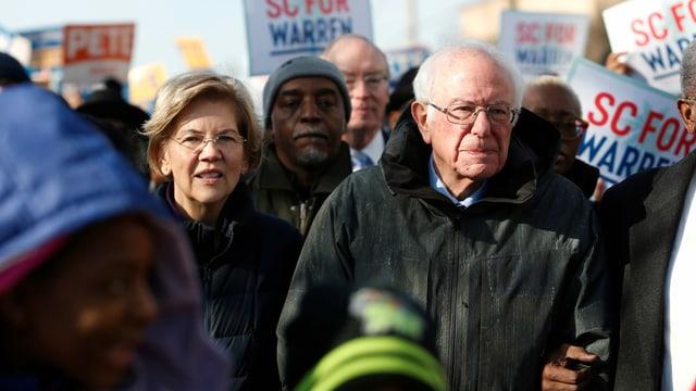 Elizabeth Warren und Bernie Sanders