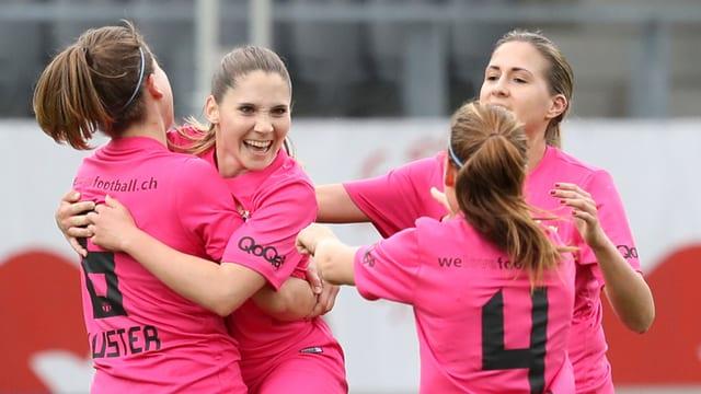 Die Frauen des FC Zürich.