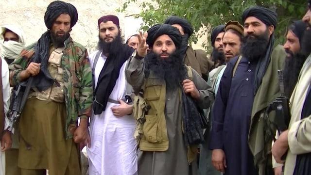 Kämpfer von Tehreek-e-Taliban schwer bewaffnet
