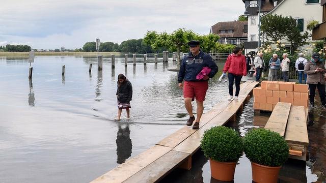 Überschwemmung am Bodensee