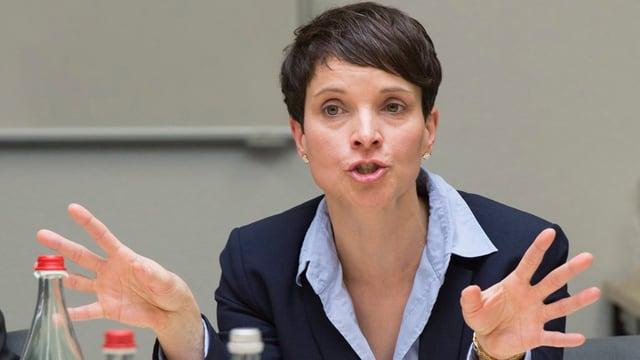 La politicra tudestga Frauke Petry ha referà a la radunanza da la AUNS ad Interlaken