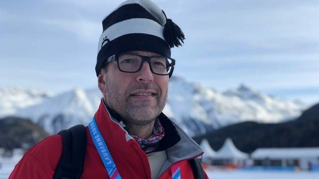 Daniel Cabelduc vom internationalen Eissschnelllaufverband ist voll des Lobes für die Eisbahn auf dem See.